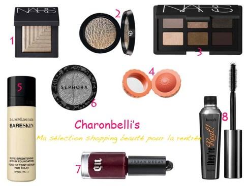 Ma sélection shopping beauté pour la rentrée - Charonbelli's blog beauté