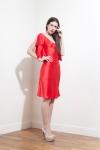 PE2015 Fatima Guerrout - Robe Ella satin soie rouge - Charonbelli's blog mode