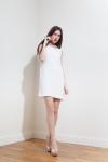 PE2015 Fatima Guerrout - Robe Elle crêpe blanc - Charonbelli's blog mode