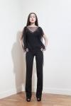 PE2015 Fatima Guerrout -Top Iris & pantalon noir - Charonbelli's blog mode
