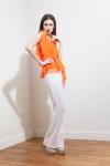 PE2015 Fatima Guerrout  -Top Mandarine & pantalon blanc - Charonbelli's blog mode